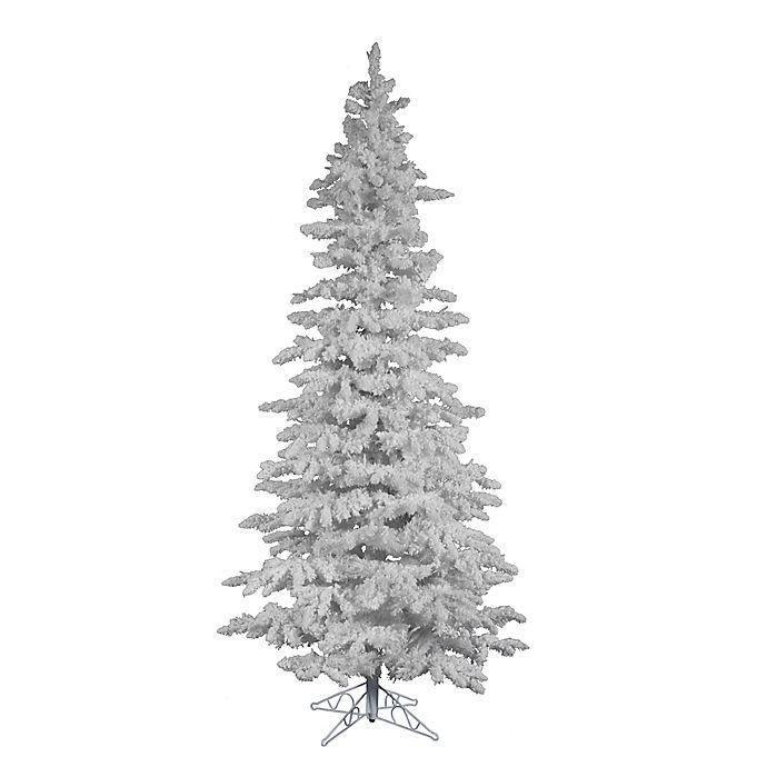 Alternate image 1 for Vickerman 7.5-Foot Flocked Spruce Christmas Tree in White
