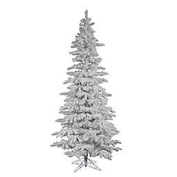 Vickerman 7.5-Foot Flocked Spruce Christmas Tree in White