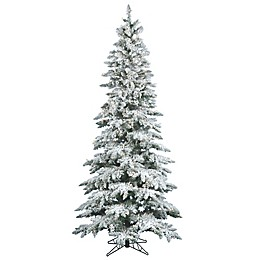 Vickerman Flocked Utica Fir Christmas Tree Collection