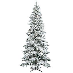 vickerman slim utica fir pre lit flocked christmas tree with warm white led lights - 7ft Slim Christmas Tree