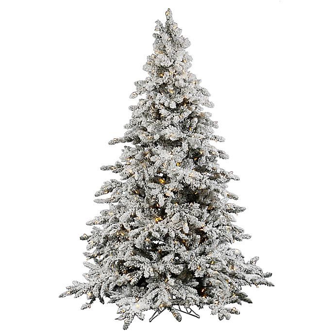 Vickerman Utica Fir Pre Lit Flocked Christmas Tree With Warm White