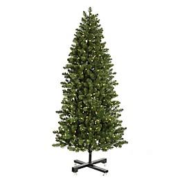 Vickerman 7.5-Foot Slim Grand Teton Pre-Lit Christmas Tree with Warm White LED Lights