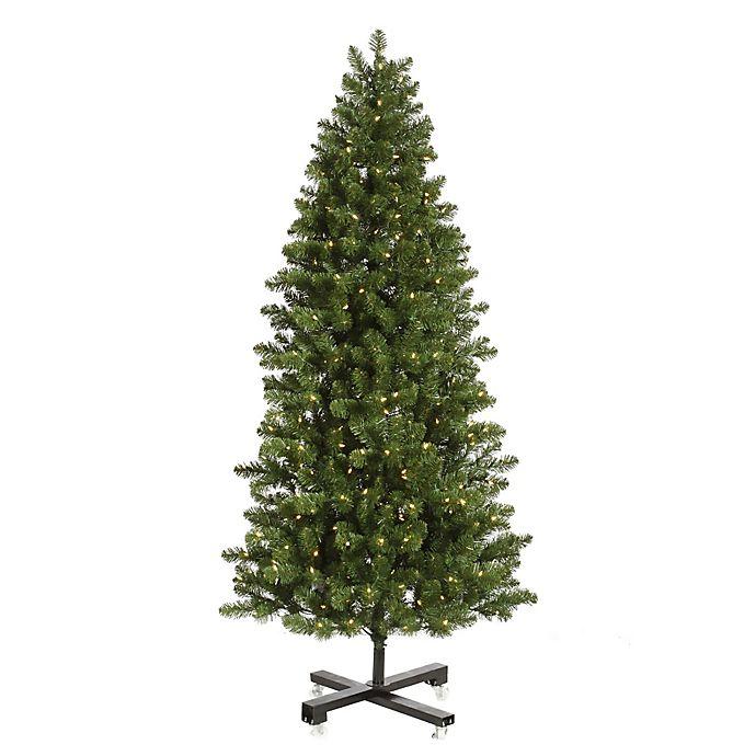 Alternate image 1 for Vickerman 7.5-Foot Slim Grand Teton Pre-Lit Christmas Tree with Warm White LED Lights