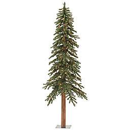 Vickerman 6-Foot Natural Alpine Slim Pre-Lit Christmas Tree with Dura-Lit Multicolored Lights