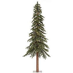 Vickerman 8-Foot Natural Alpine Pre-Lit Slim Christmas Tree with Clear Mini Lights