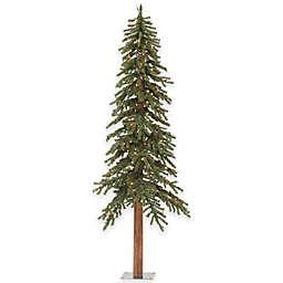 Vickerman 8-Foot Alpine Pre-Lit Christmas Tree with Multicolor Mini Lights