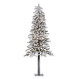 Vickerman Flocked Alpine Pre-Lit Christmas Tree with Clear Lights