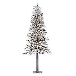Flocked Slim Christmas Tree Bed Bath Beyond