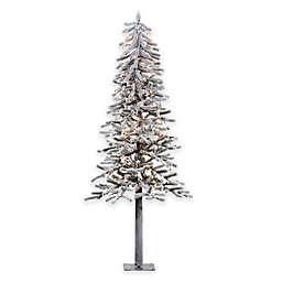 Vickerman Flocked Alpine Pre-Lit Christmas Tree with Clear Lights