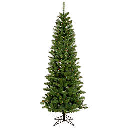 Vickerman 6.5-Foot Salem Pine Pencil Pre-Lit Christmas Tree with Multicolor LED Lights