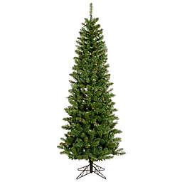 Vickerman 7.5-Foot Salem Pine Pencil Pre-Lit Christmas Tree with Multicolor LED Lights
