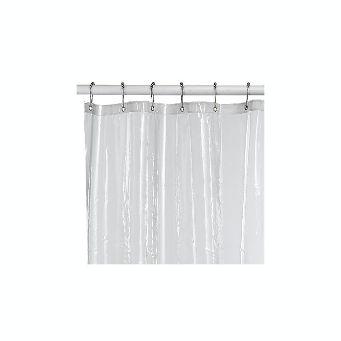 Eco Soft Extra Long Shower Curtain Liner In Clear