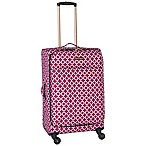 Jenni Chan Aria Broadway 24-Inch Spinner Checked Luggage in Cranberry