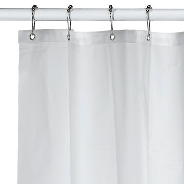 Eco Soft EVA 70 Inch X 71 Shower Curtain Liner In Pure Frost