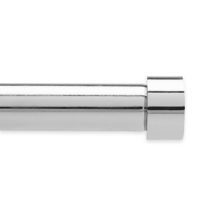 Alternate image 1 for Umbra® Cappa 36 to 66-Inch Adjustable Window Curtain Rod in Polished Silver