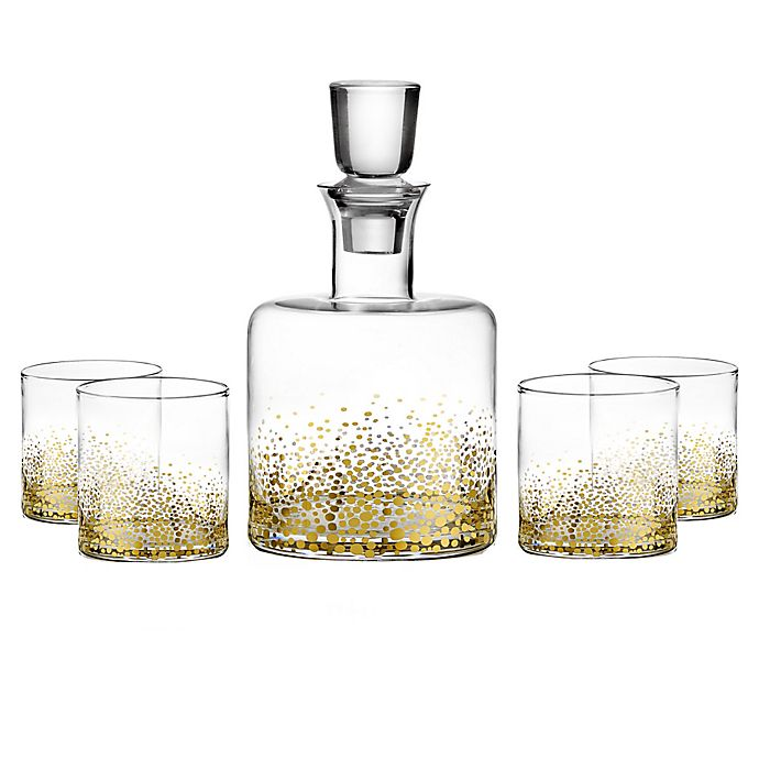 Alternate image 1 for Fitz and Floyd® Luster 5-Piece Whiskey Set in Gold