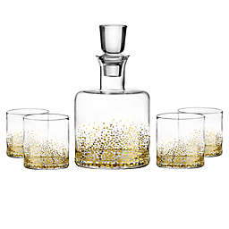 Fitz and Floyd® Luster 5-Piece Whiskey Set in Gold