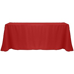 Basic Polyester 90-Inch x 132-Inch Oblong Tablecloth in Holiday Red