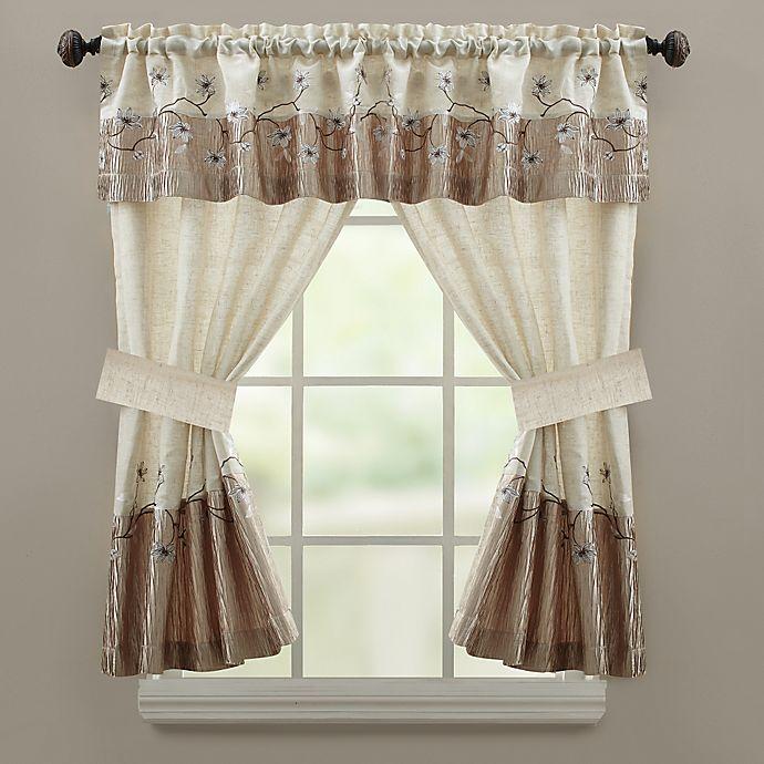 Alternate image 1 for Croscill Magnolia Bath Window Curtain Valance
