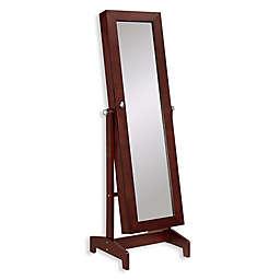 Linon Home Julia Cheval Storage Floor Mirror
