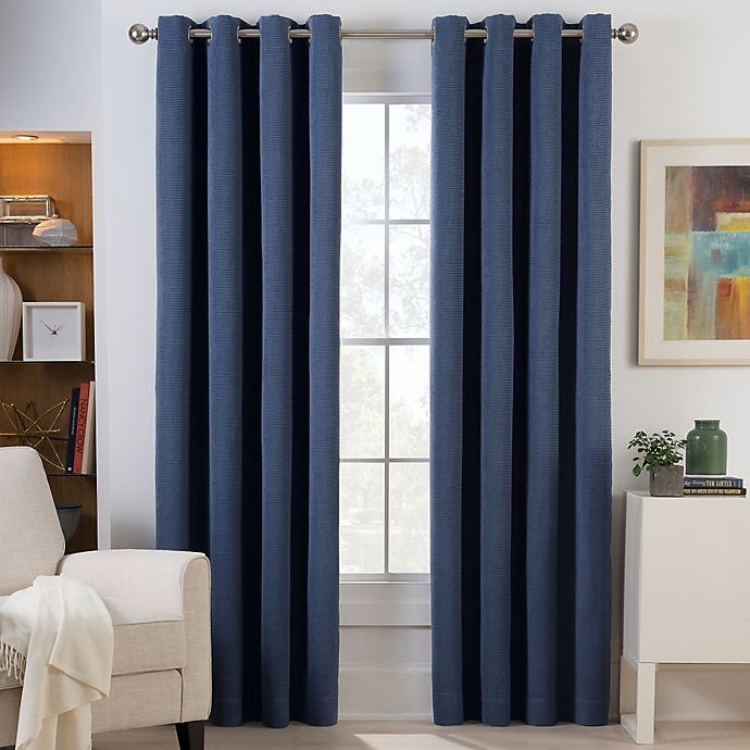 Alternate image 1 for Herald Square Grommet Top Room Darkening Window Curtain Panel