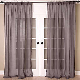Aura Solid Sheer Window Curtain Panel