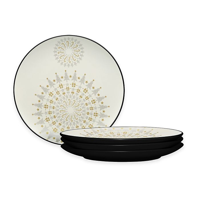 Alternate image 1 for Noritake® Colorwave Holiday Accent Plates in Graphite (Set of 4)