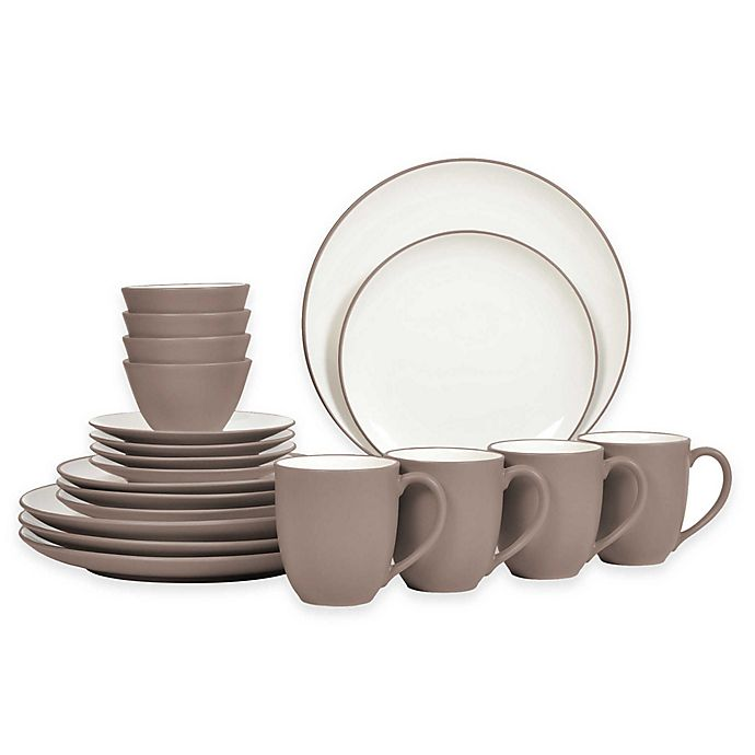Alternate image 1 for Noritake® Colorwave 20-Piece Coupe Dinnerware Set in Clay