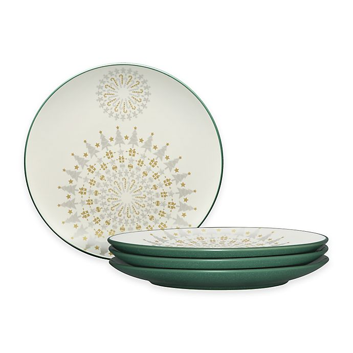 Alternate image 1 for Noritake® Colorwave Holiday Accent Plates in Spruce (Set of 4)