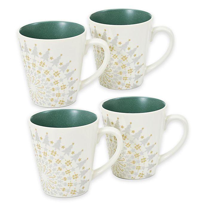 Alternate image 1 for Noritake® Colorwave Holiday Mugs in Spruce (Set of 4)