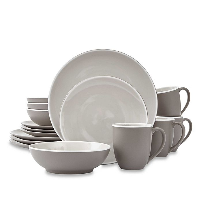 Alternate image 1 for Noritake® ColorTrio 16-Piece Coupe Dinnerware Set in Clay