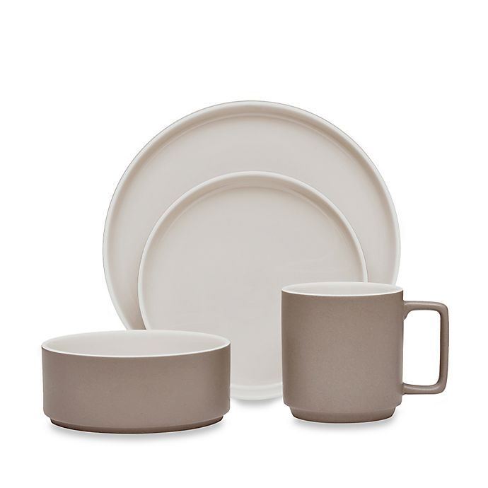 Alternate image 1 for Noritake® ColorTrio Stax 4-Piece Place Setting in Clay