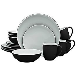 Noritake® ColorTrio 16-Piece Coupe Dinnerware Set in Graphite