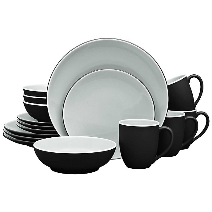 Alternate image 1 for Noritake® ColorTrio 16-Piece Coupe Dinnerware Set in Graphite