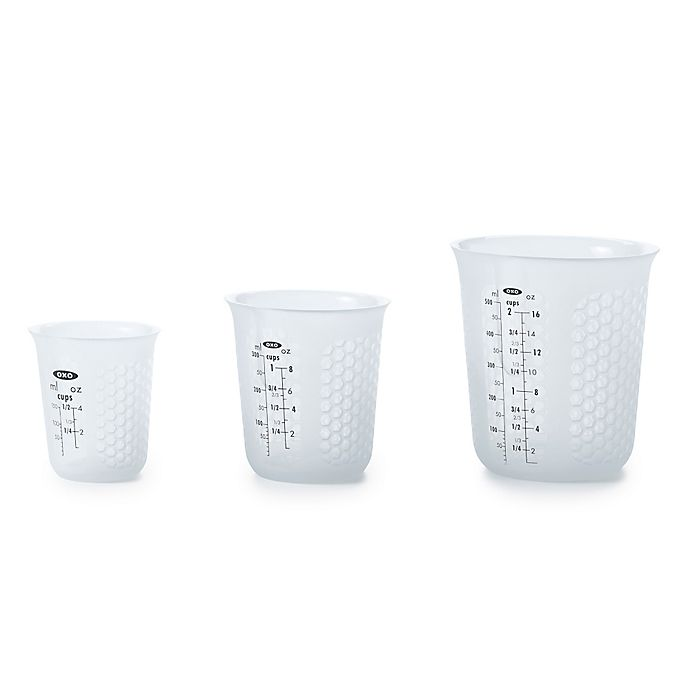 Alternate image 1 for OXO Good Grips® Squeeze & Pour 3-Piece Silicone Measuring Cup Set