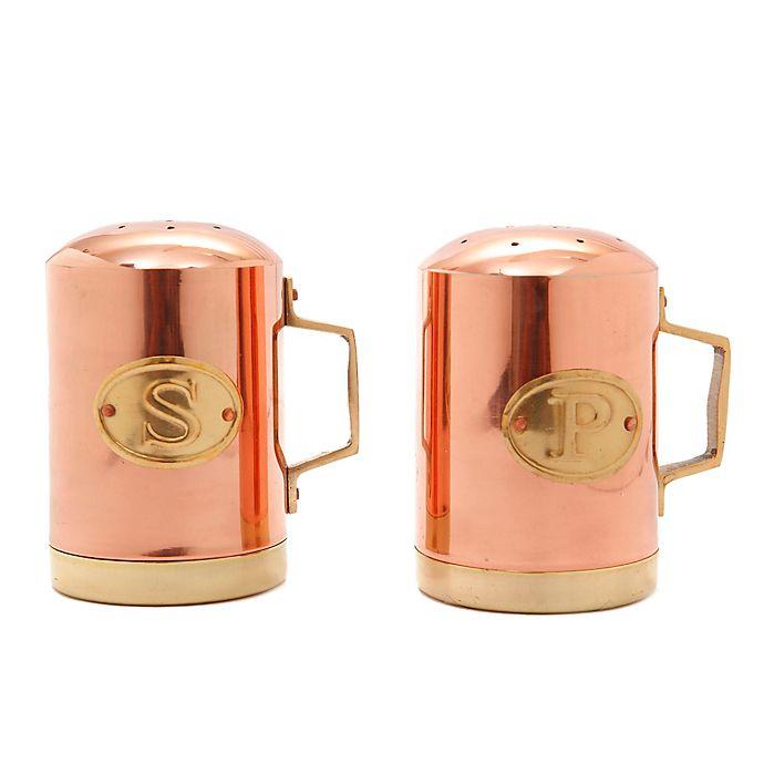 Alternate image 1 for Old Dutch International Copper Hammered Salt and Pepper Shaker Set