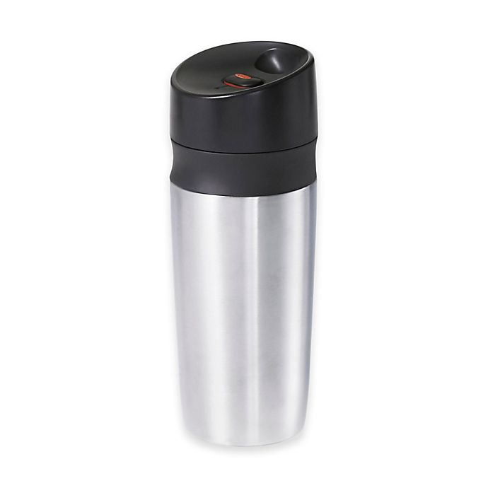 Alternate image 1 for OXO Good Grips® Stainless Steel Double-Wall Travel Mug