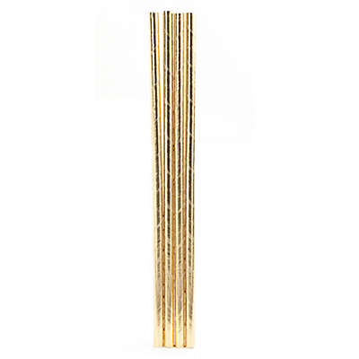 Kikkerland® 144-Pack Paper Straws in Gold