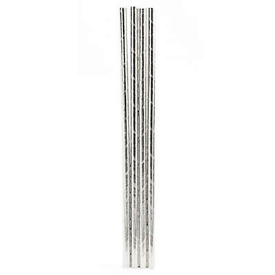 Kikkerland® 144-Pack Paper Straws in Silver