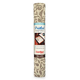 Con-Tact® Grip Print Non-Adhesive Shelf Liner in Stone/Almond