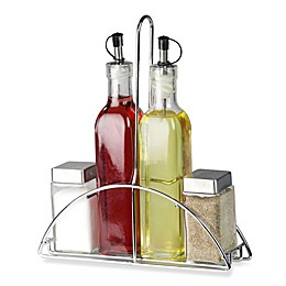 4-Piece Cruet Set with Stand