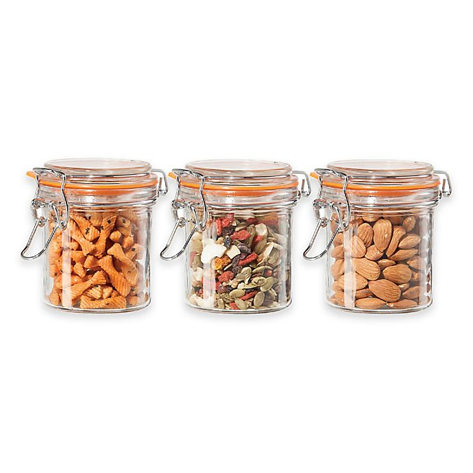 Alternate image 1 for Oggi™ Glass Canisters (Set of 3)
