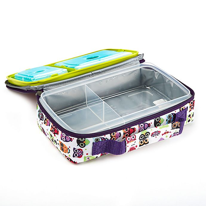 Alternate image 1 for Fit and Fresh® Bento Lunch Box Kit in Owl Print
