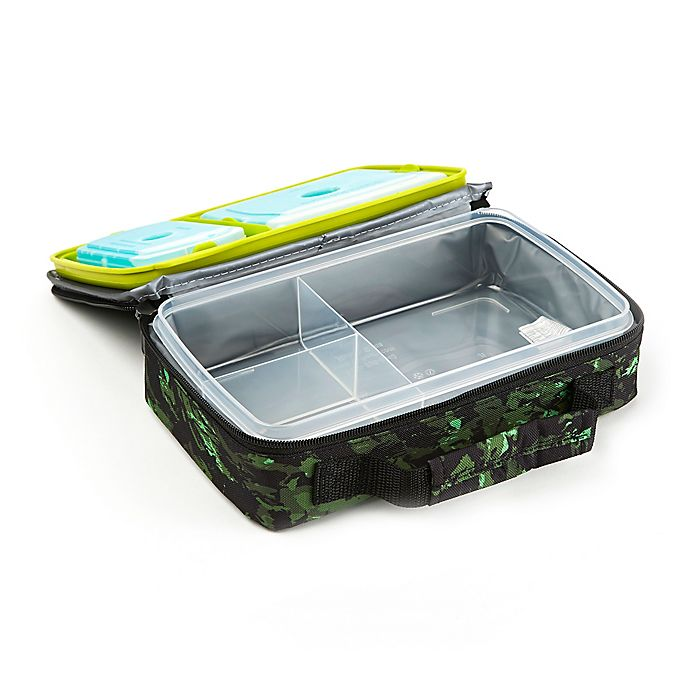 Alternate image 1 for Fit and Fresh® Bento Lunch Box Kit in Green Camo