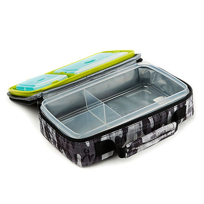 Alternate image 1 for Fit and Fresh Bento Lunch Box Kit in Black and White Camo