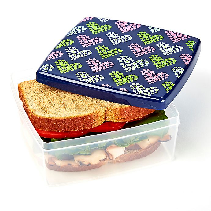 Alternate image 1 for Fit & Fresh® Hearts Lunch POD in Purple