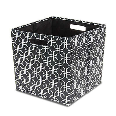 b+in® Fabric Full Storage Bin in Black