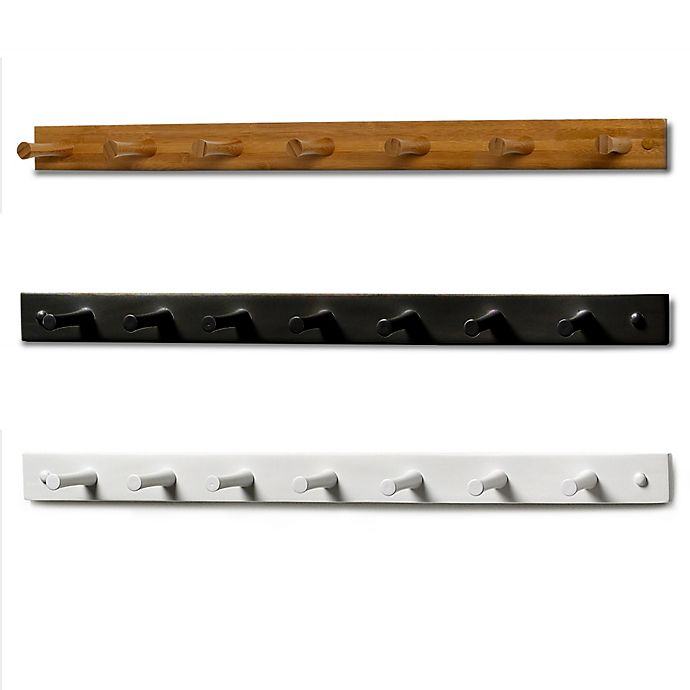 Alternate image 1 for Spectrum™ 7-Peg Wall-Mount Wood Rack