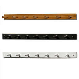 Spectrum™ 7-Peg Wall-Mount Wood Rack