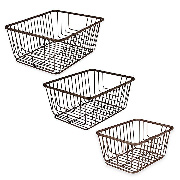 Alternate image 1 for Spectrum® Ashley Storage Basket in Bronze